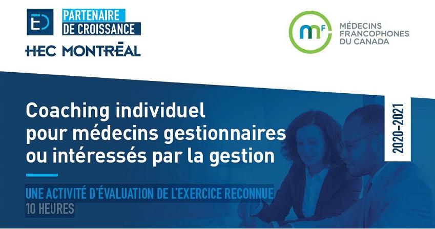 Bandeau-Coaching-individue; pour médecins gestionnaires- Médecins francophones du Canada