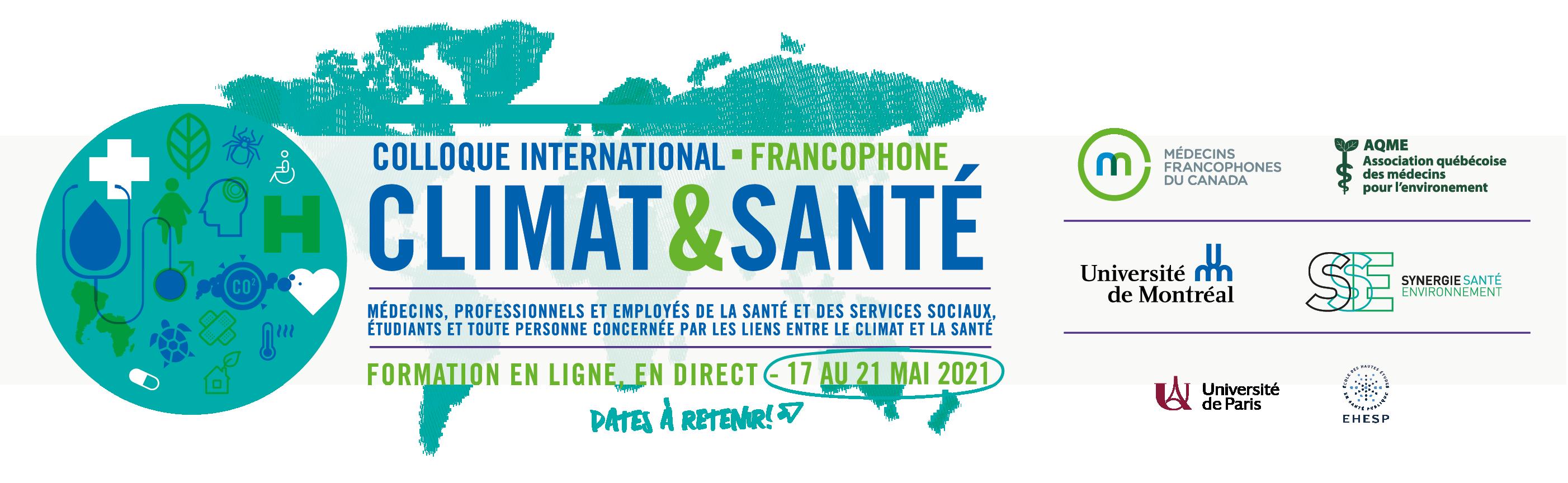 Bandeau _Colloque francophone international Climat et Santé 2021 _V2