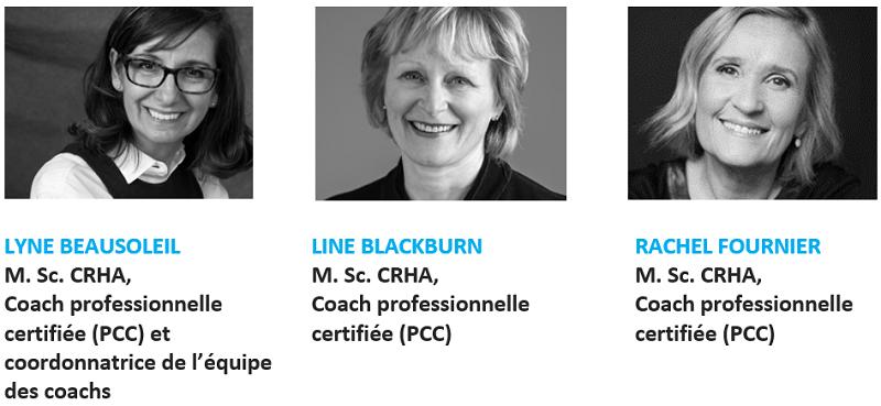 Coaching - Évaluation de la pratique - Médecins francophones du canada - photo des 3 coach