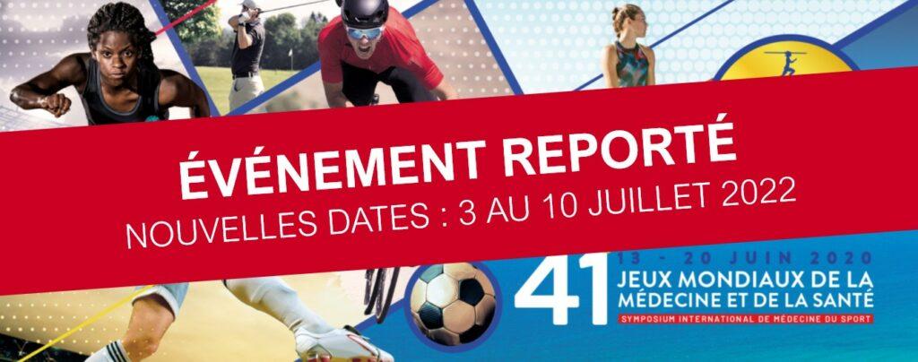 Jeux mondiaux de la médecine et de la santé reportés en 2022 - Médecins francophones du Canada