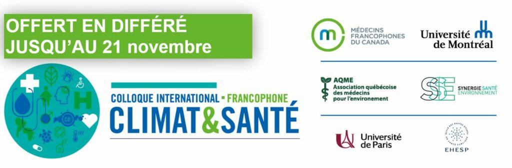 Colloque international francophone Climat et santé - En différé